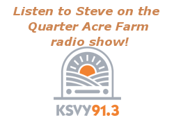 Listen To The Interview:<br>Steve Shain on Quarter Acre Farm Radio Show (2014) [mp3]